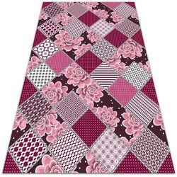 Nowoczesny dywan outdoor wzór Nowoczesny dywan outdoor wzór Sukulenty kolaż