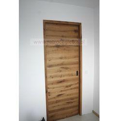 Drzwi przesuwne ze starego drewna dębowego