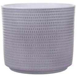 Osłonka doniczki Cermax Calla cylinder 16 cm szary lazur