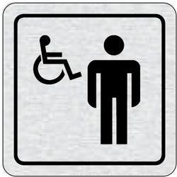 Tabliczka na drzwi -WC dla niepełnosprawnych mężczyzn