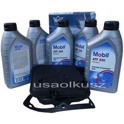 Półsyntetyczny olej MOBIL ATF320 oraz filtr oleju skrzyni biegów 4-spd Dodge Dakota 2005-