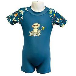 Strój kąpielowy kombinezon dzieci 62cm filtr UV50+ - Petrol Jungle \ 62cm