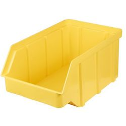 Plastikowy pojemnik warsztatowy - wym. 156 x 100 x 756 - kolor żółty