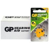 Baterie, 60 x baterie do aparatów słuchowych GP 10 / ZA10 / PR70