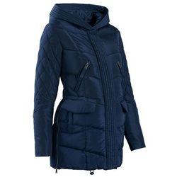 Płaszcz ciążowy pikowany z regulacją obwodu bonprix ciemnoniebieski
