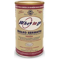 Białko serwatki smak czekoladowo kakaowy Whey to go 454g proszek Solgar