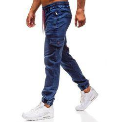 Spodnie jeansowe joggery męskie granatowe Denley Y272B
