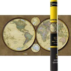 Mapa Ścienna Polityczna Świat Dwie Półkule 1:37 330 000