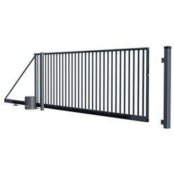 Brama przesuwna Salvador automatyczna ocynkowana prawa 1 4 x 4 m RAL 7016