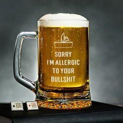 Allergic to bullshit - Kufel - Kufel do piwa