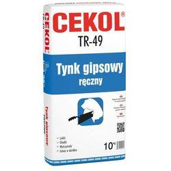 Tynk gipsowy ręczny TR-49 10 kg CEKOL
