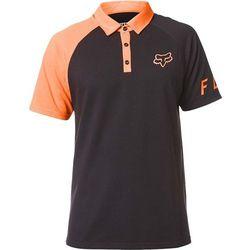 koszulka FOX - Switched On Polo Black/Orange (016)