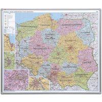 Mapy i atlasy dla dzieci, Tablica mapa 2x3 officeBoard – Mapa administracyjna Polski 102,5x120cm, płyta magnetyczna lakierowana