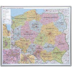Tablica mapa officeboard – mapa administracyjna polski 102,5x120cm, płyta magnetyczna lakierowana marki 2x3