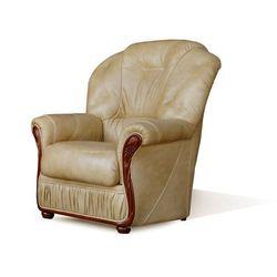 Fotel 100% skóry bawolej DAPHNE - Kolor: beżowy