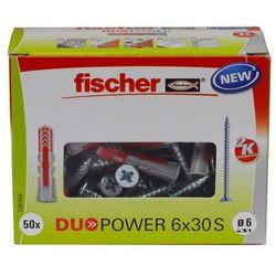 Kołek uniwersalny Fischer Duopower 6 x 30 z wkrętem 50 szt.