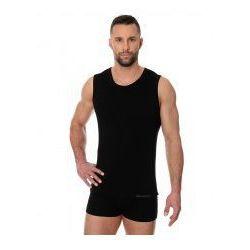 Bezszwowa koszulka męska Brubeck Comfort Cotton SL00068 czarny