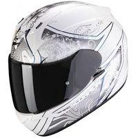 Kaski motocyklowe, SCORPION KASK INTEGRALNY EXO-390 CLARA WHITE-SILVE