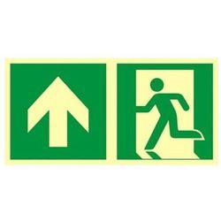 znak kierunek do wyjścia ewakuacyjnego - w górę (lewostronny)