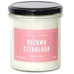 Świeca sojowa RÓŻOWA CZEKOLADA - aromatyczna ręcznie robiona naturalna świeca zapachowa w słoiczku 300ml