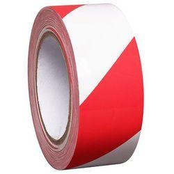 Taśma do znakowania podłoża z winylu, dwukolorowa, szer. 50 mm, czerwona / biała