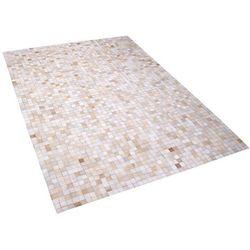 Dywan skórzany beżowy 160 x 230 cm ADVAN
