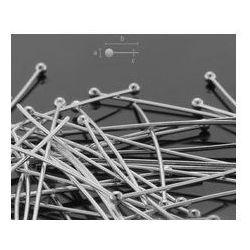 Szpilki drut 0,65 mm długość 50 mm srebro HP 0,65 50 mm