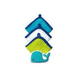 Zestaw 3 myjek Welur z gąbką BabyOno (wielorybek)