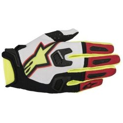 RĘKAWICE ALPINESTARS RACEFEND S7 WHI/RED/YELL FLUO