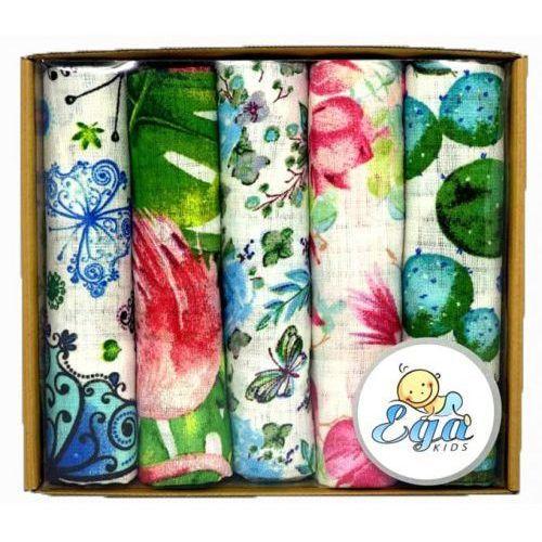 Pieluchy tetrowe, Pieluszki tetrowe drukowane 5szt. eco pudełko zest. 3