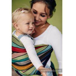 Chusta do noszenia dzieci - KARUZELA BARW - tkana splotem skośno-krzyżowym - Rozmiar S (4,2 metra) - LennyLamb