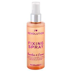Makeup Revolution London I Heart Revolution Fixing Spray Peaches & Cream utrwalacz makijażu 100 ml dla kobiet