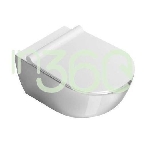 Miski i kompakty WC, Catalano Sfera Miska WC wisząca 50x35 +śruby mocujące (5KFST00) biała 1VSS5000