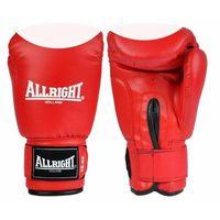 Rękawice do walki, Rękawice bokserskie PVC czerwono-białe Allright
