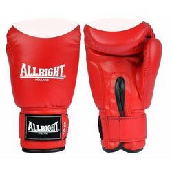 Rękawice bokserskie PVC czerwono-białe Allright