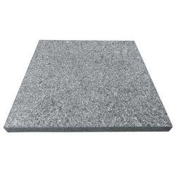 Płyta granitowa 30 x 30 x 2 cm ciemnoszara płomieniowana