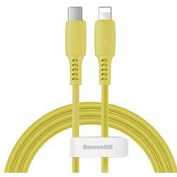 Baseus Colourful kabel przewód USB Typ C / Lightning Power Delivery 18W 1,2m żółty (CATLDC-0Y) - Żółty