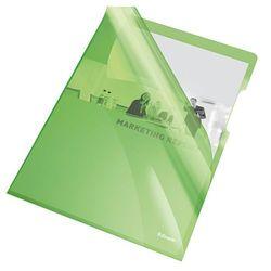 Ofertówka krystaliczna L Esselte 55436 A4/25szt.,150mic. zielona