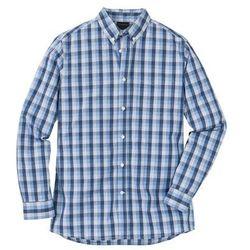 Koszulka polo z długim rękawem (2 szt.) bonprix szary melanż - kobaltowy