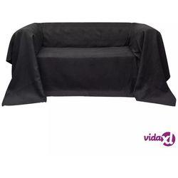 vidaXL Pokrowiec/Narzuta na kanapę micro zamsz Antracyt 270 x 350 cm Darmowa wysyłka i zwroty
