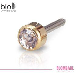 Kolczyk do przekłuwania uszu Blomdahl - Bezel Crystal 4 mm w kolorze złota