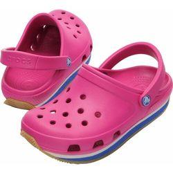 Crocs Kids Retro Fuchsia Sea Blue Różowo-niebieskie Fuksja klapki dla dzieci Różne rozmiary