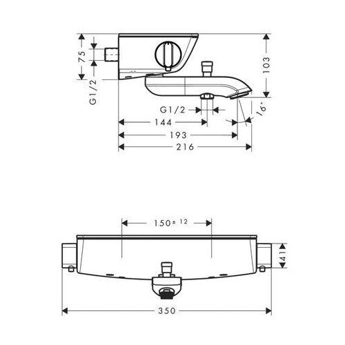 Baterie do wanien, Bateria Hansgrohe Axor urquiola 13141400