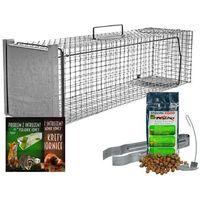 Środki na szkodniki, Pułapka na kuny, bobry, wydry, lisy i koty. Żywołapka na kunę 102x29x31cm.