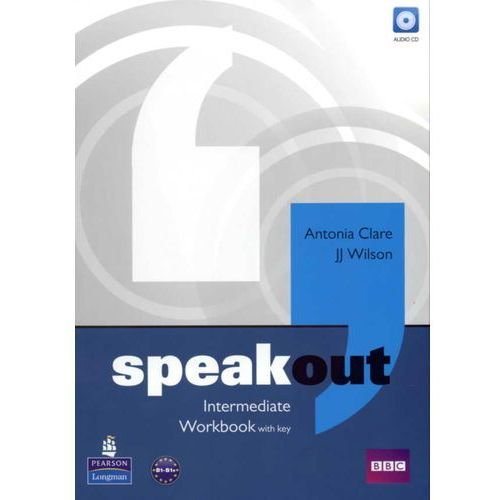Książki do nauki języka, Speakout Intermediate, Workbook (zeszyt ćwiczeń) with Answer Key plus Audio CD (opr. miękka)