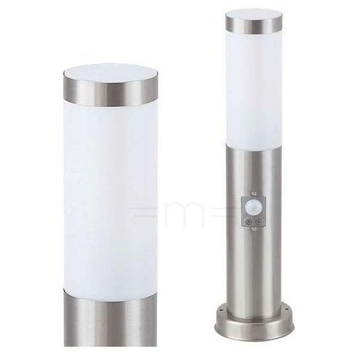 Lampy ogrodowe, Lampa stojąca oprawa zewnętrzna Rabalux Inox torch 1x60W E27 IP44 czuj.ruchu chrom / biała 8267