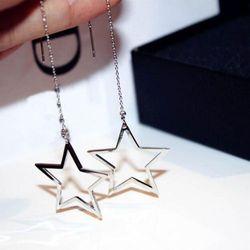 EXCLUSIVE Kolczyki klasyka gwiazda srebrne - SREBRNE
