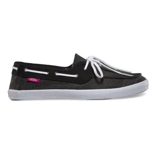 Damskie obuwie sportowe, buty VANS - Chauffette Black/Fuchsia P (B0Q)