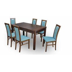 """Zestaw """"DIVA"""" stół + 6 krzeseł - turkusowy"""