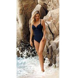 Strój kąpielowy jednoczęściowy self s 964 u19 rozmiar: 42g-xl, kolor: granatowy, self